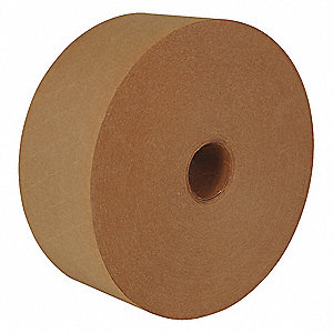 "600 ft. x 2-1/2"" 57 lb. Recycled Natural Kraft Paper Carton Sealing Tape, Natural"
