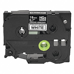 "Indoor/Outdoor Polyester Label Tape Cartridge, Black/White, 45/64""W x 26 ft. 2-13/32"""