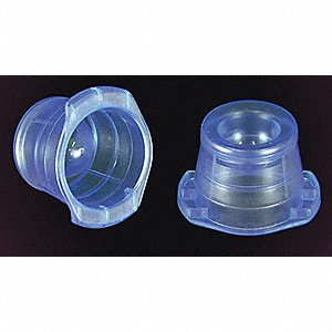 LDPE Push In Thumb Caps, Blue, 1000 PK
