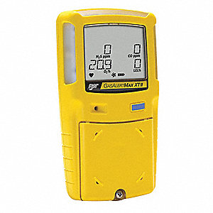 Multi-Gas Detector, O2/LEL/CO, BR, Yellow