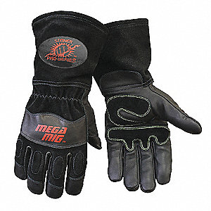 MIG WELD GLOVE BLK GOAT PALM COWHDE