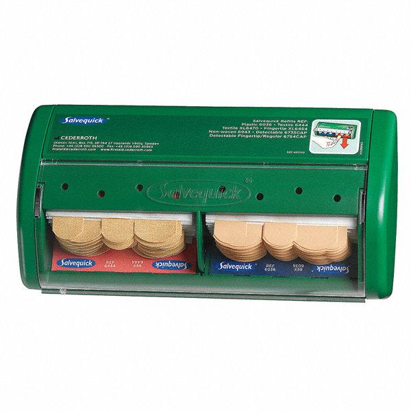 medique bandage dispenser green plastic 23me86 490770