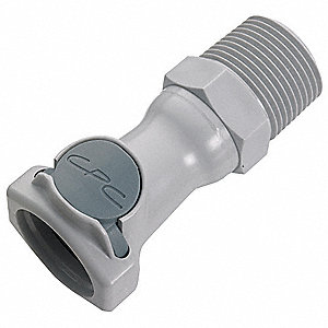 Coupler,Polypropylene,Gray,Push In