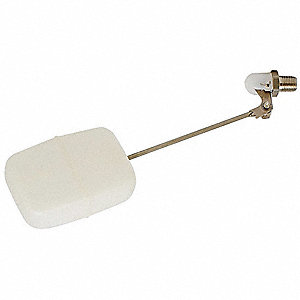 Bulkhead-Mount Mini Float Valve, Stainless Steel/Plastic