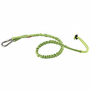 "Tool Lanyard, 42 to 54"" Length, Lime, 15 lb. Max. Working Load"