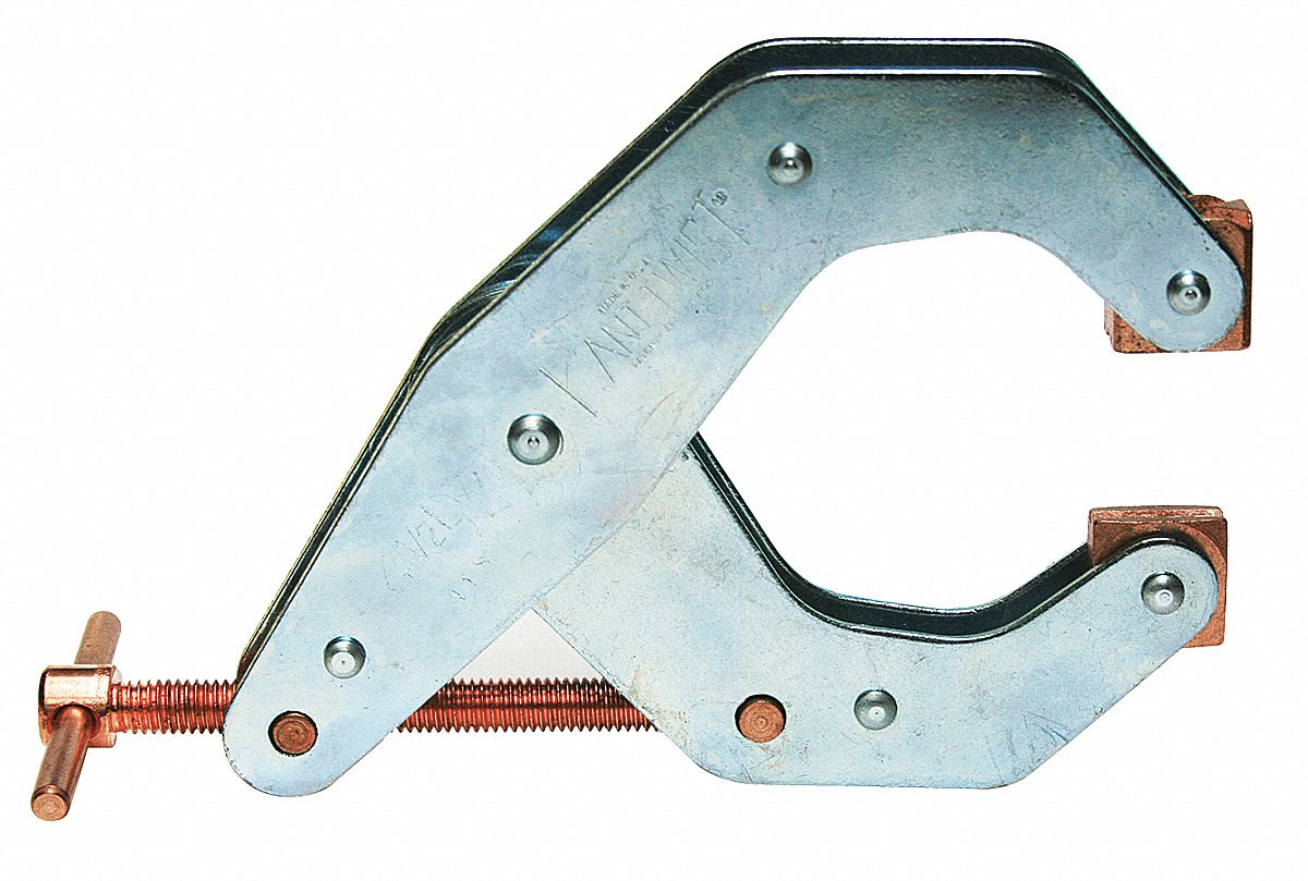 Cantilever Clamp,  Steel,  Zinc Plated,  4 1/2 in Max. Opening,  3 1/8 in Throat Depth