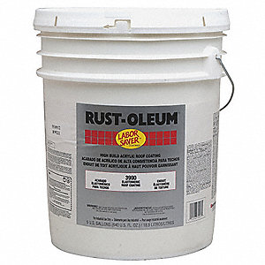 Gravel Gray Elastomeric Acrylic Coating, Satin Finish, 110 sq. ft./gal Coverage, Size: 4.23 gal.