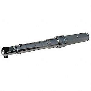 "Fixed 1/2"" Micrometer Torque Wrench, 50 to 250 ft.-lb."
