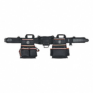 "Black Tool Belt, 1680D Ballistic Weave, 40 to 44"" Waist Size, Number of Pockets: 26"