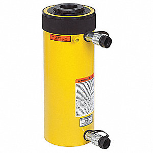 "60 tons Double Acting Hollow Steel Hydraulic Cylinder, 6-1/2"" Stroke Length"