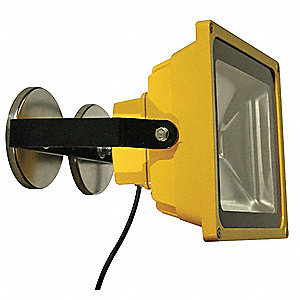 30W LED Magnetic Temporary Job Site Light, Yellow, 3000 Lumens