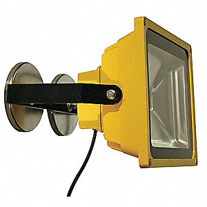 50W LED Magnetic Temporary Job Site Light, Yellow, 5000 Lumens