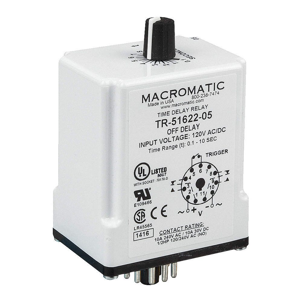 Macromatic Single Function Timing Relay 12vdc 10a 240v 11 Pins On Off Timer Zoom Out Reset Put Photo At Full Then Double Click