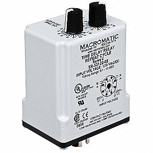 macromatic single function timing relay  120vac  dc  10a