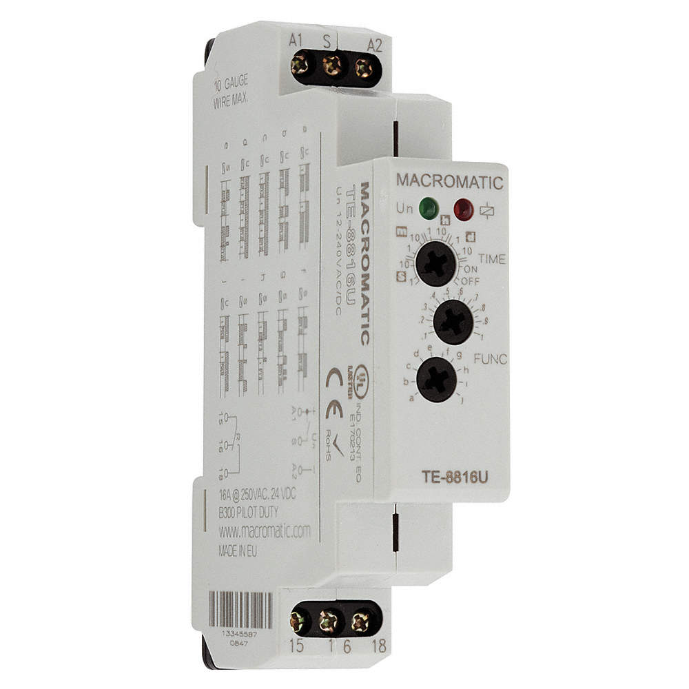 Macromatic Multi Function Timing Relay 12 To 240vac Dc 15a 240v Dpdt Motor Zoom Out Reset Put Photo At Full Then Double Click