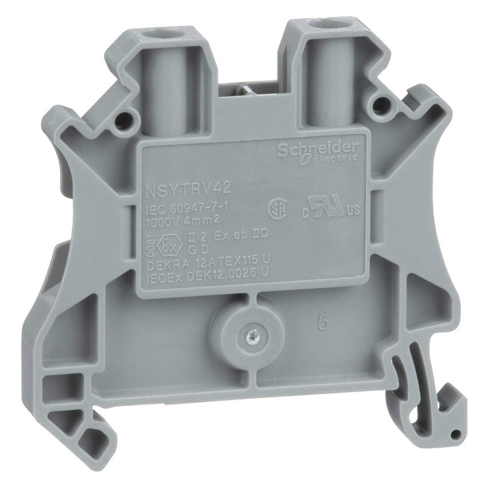 SCHNEIDER ELECTRIC Terminal Block, 600VAC Voltage, 30 Amps, 10 AWG ...