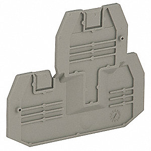 Terminal Block End Barrier, For Use With Mfr. No. NSYTRV24D
