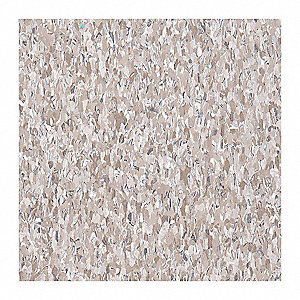 "12"" Vinyl Composition Tile with 45 sq. ft. Coverage Area, Cottage Tan"