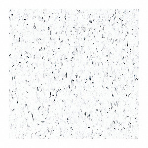 "12"" Vinyl Composition Tile with 45 sq. ft. Coverage Area, Classic White"