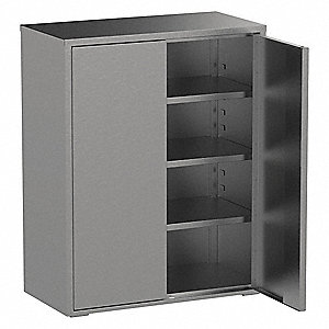 "Industrial Storage Cabinet, Gray, 61"" H X 48"" W X 18"" D, Assembled"