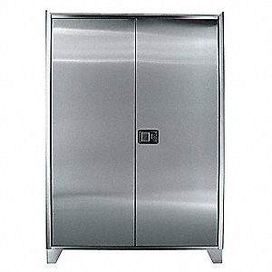 "Industrial Storage Cabinet, Gray, 73"" H X 48"" W X 18"" D, Assembled"