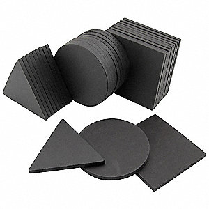 "Charcoal Magnetic Shapes, 1-1/4"" Width, 1/8"" Height, 30 PK"