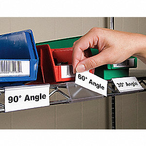 "PVC Angle Vu Label Holder, Clear, 3""L x 1-1/4""W, 25 PK"