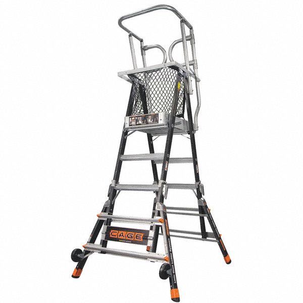 LITTLE GIANT Fiberglass, 3 to 5 ft. Ladder Height, 3 ft