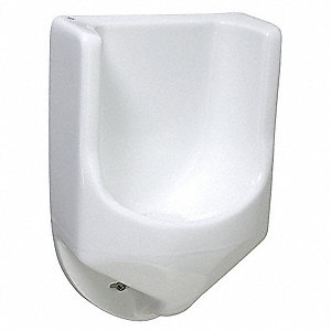 "Waterless Wall Urinal, 0 Gallons per Flush, 28""H x 18""W, White"