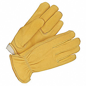 Leather Gloves,Deerskin,S,Tan,PR