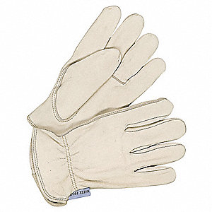 Leather Gloves,Cowhide,XS,Tan,PR