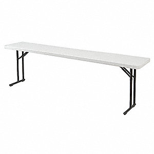 "29-1/2""H x 60""W x 18""D Rectangle Folding Table, Speckled Gray"
