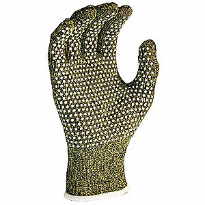PVC Cut Resistant Gloves, ANSI/ISEA Cut Level 4 Lining, Green, M, PR 1