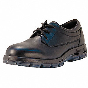 "3""H Unisex Work Boots, Steel Toe Type, Full Grain Leather Upper Material, Black, Size 13EE"