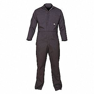 FR Cotton Blend  (88% Cotton, 12% Nylon), Flame-Resistant Coverall, Size: M, Color Family: Blues