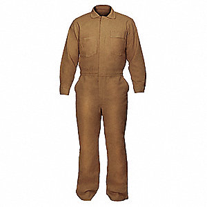 FR Cotton Blend  (88% Cotton, 12% Nylon), Flame-Resistant Coverall, Size: S, Color Family: Blues