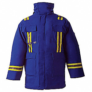 Flame-Resistant Parka,Royal Blue,4XL