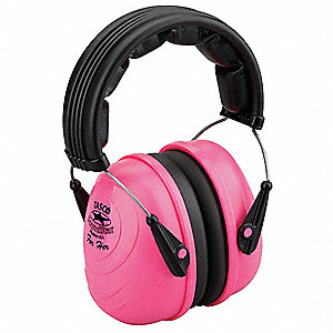 25dB Over-the-Head Ear Muff, Pink&#x3b; ANSI S3.19-1974