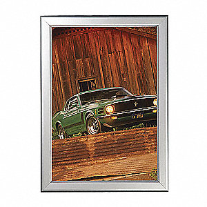 SECURITY SNAP FRAME SILVER 8.5 X 11