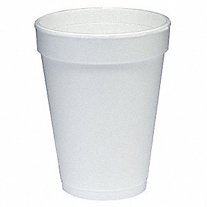 Disposable Hot Cup,14 oz.,White,PK1000