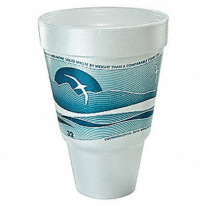 Disp. Hot Cup,32 oz.,Blue/White,PK500