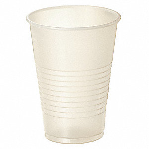 7 oz. Plastic Disposable Cold Cup, Clear, 2500 PK