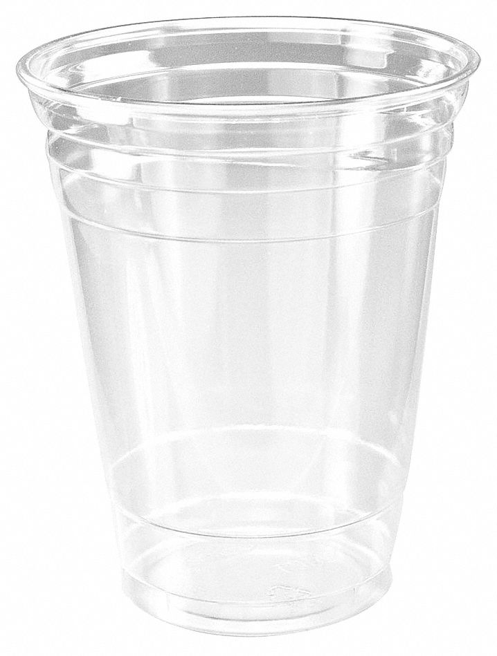 16 oz Plastic Disposable Cold Cup, Clear, 1000 PK
