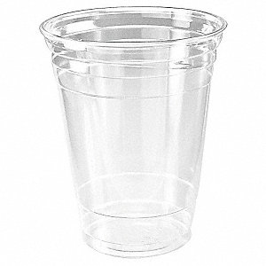 16 oz. Disposable Cold Cup, Plastic, Clear, PK 1000