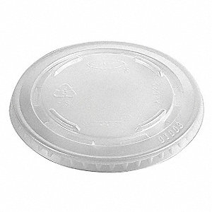 9 to 10 fl. oz. Plastic Flat, Straw Slot Cold Cup Lid, Clear, 1000 PK