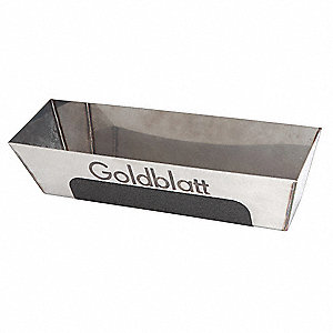 Mud Pan,Stainless Steel,12 In Base