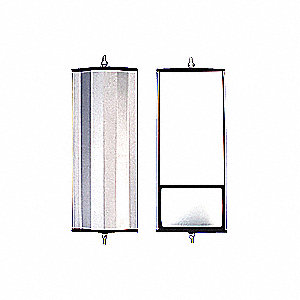 MIRROR 6.5X16 ALUMINUM SPLIT GLASS