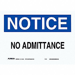 "Authorized Personnel and Restricted Access, Notice, Plastic, 7"" x 10"", With Mounting Holes"