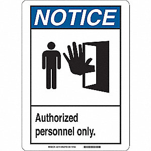 Notice Sign,10 x 7 In.,Aluminum