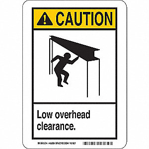 Caution Sign,10 x 7 In.,Aluminum